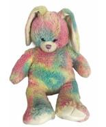 "Build a Bear 16"" Bunny Rabbit Watercolor Pastel Rainbow Plush Toy Stuffe... - $28.05"