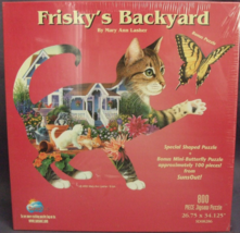 """800 Piece Shaped Puzzle """"Frisky's Backyard"""" [Brand New]  - $28.31"""