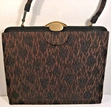 Lewis True Vintage Brown/Black Fabric Handbag - $26.18