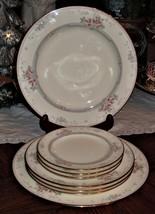 8pc Noritake Bone China MAGNIFICENCE 9736 Dinner Bread & Desert Plate Se... - $59.39
