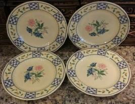 Lot Of (4) Mikasa Country Classics Pattern: Le Jardin DC405 Pottery Salad Plates - $14.84