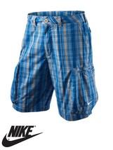 Nike Homme Challenge à Carreaux Tissé Short Militaire Short Coton - 4651... - $27.83