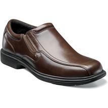 Mens Nunn Bush Shoes Bleeker Brown Leather Comfort Bicycle Toe Slip On 8... - €73,87 EUR