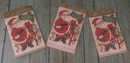 Vtg Hallmark Christmas Party Invitations Santa Claus Holiday Cards Envelopes - $19.79