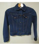 Levis Strauss Boy Girl Blue Denim Jacket Size Small Child 1970s Trucker ... - $49.99
