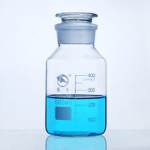 500ml Boro 3.3 Lab Graduated Clear Glass Storage Reagent Bottle Sample Vial - $12.39