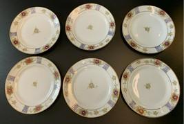 "Antique Nippon Hand Painted Dessert Plates 6 "" Lot Set Of Six - $19.80"