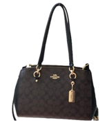 Coach Women's Etta Carryall Shoulder Handbag F77881 In Signature Canvas - $199.99