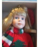 "Fine porcelain 16"" dynasty dol lblonde hair w/box ""shaina"" iceskater - $35.64"