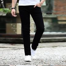 Men Fashion Casual All-match Straight Leg Jeans Pure blue _32 - $22.77
