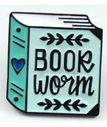 Book Worm Pin Metal Badge For Teacher Student Book Lover Enamel Pin Butt... - $5.89
