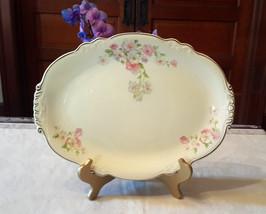 Homer Laughlin Fluffy Rose Large Serving Platter, Pink,purple floral, of... - $40.00