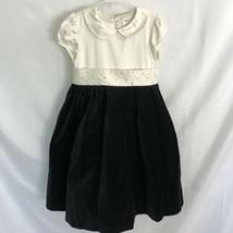 GYMBOREE Holiday Black Velvet Ivory Satin Fancy Party Dress 10 Girls - $24.99