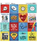 "Reminisce Custom Cardstock Stickers 12""X12""-Hero - $9.75"