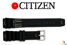 Citizen ND Limits AJ9230-08E 20mm Black Rubber Watch Band AJ9230-08L AN1... - $49.95