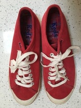 Women's Red Suede Keds Size 8.5