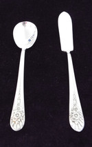 International Silver Wm Rogers Jubilee Silverplate Sugar Spoon and Butte... - $19.99