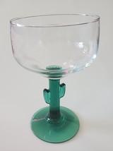 Margarita Glass and Kitchen Towel, Green Cactus Stem 16oz Drinks Recipe Gift image 4