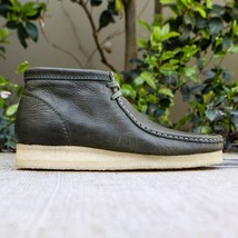 Clarks Originals Wallabee Boot Men's Green Leather 26115394 - $100.00 - $150.00