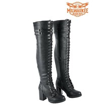 Milwaukee Riders® Ladies LEATHER BOOTS KNEE HIGH SIZE 6 TO 11 MSRP: $249.95 - $69.99+