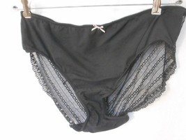 NWOT Black Cacique cheeky panty 22/24 cotton lace sheer sexy - $19.79