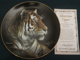 SIBERIAN TIGER Collector Plate MARTIENA RICHTER Nature's Majestic Cats - $29.99