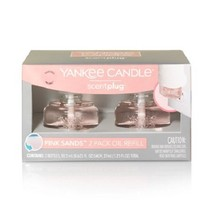 Yankee Candle Pink Sands Scentplug Refill Bulb 2 Pack New in Box - $19.99