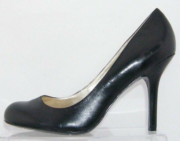Jessica Simpson 'Henri' black leather patent round toe slip on heels 9.5B 6348 image 10