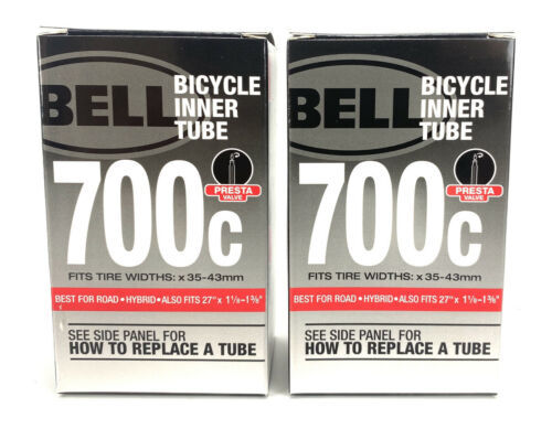 """(2x) Bell  700C Bicycle Inner Tube Fits 35-43c and 27"""" x 1 1/8 - 1 3/8"""" NEW - $15.79"""