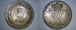 1968 Danish 5 Ore World Coin - Denmark - $3.99
