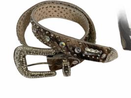 Leather Suede Cowhide Handcrafted Lot - Belt Handbag Bag Purse Clutch Stocking image 9