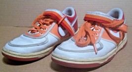 Nike Sneakers Size Orange and White 4 Y Youth Boys Girls - $16.83