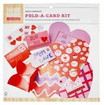 Valentine Day 18 Cards Hand Made Modern Fold A Card Kit Stickers New image 4