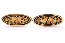 VTG Damascene Cufflinks Oval Marked A Men's Formal Wear Suit Shirt Acces... - $18.58