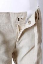 Womens Linen Pant / Linen Pants for Women / Wide Leg Linen Pants / Tan / Size S image 2