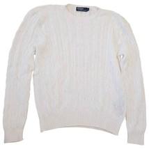 Ralph Lauren Women's 201531457002 Sweater, White, PM - $19.79