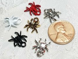 SPIDER FINE PEWTER PENDANT CHARM - 11x13x2mm image 3