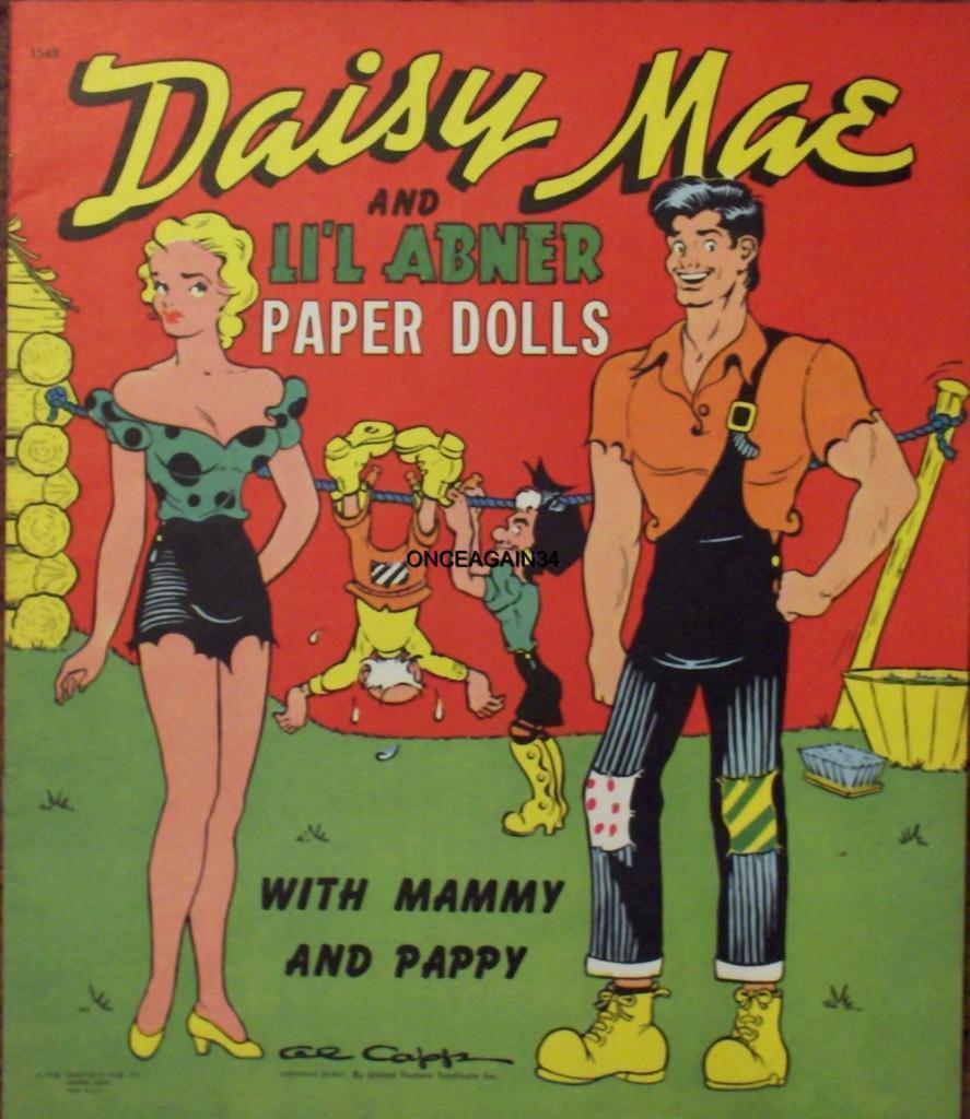 Abner S Garden Center Coupon: VINTAGE UNCUT 1941/51 DAISY MAE~LI'L ABNER PAPER DOLLS