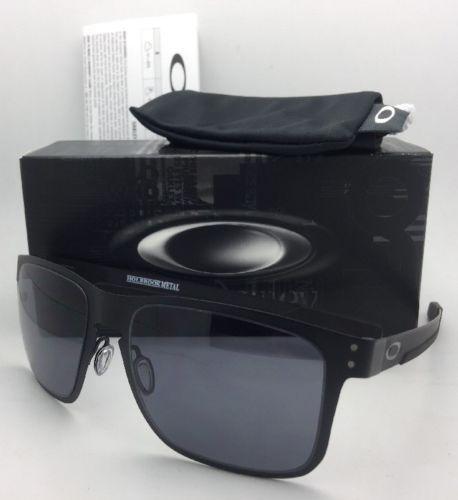 c69f5492254fc 12. 12. Previous. New Oakley Sunglasses HOLBROOK METAL OO4123-01 Matte Black  Frames w  Grey Lenses