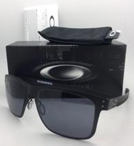 New Oakley Sunglasses HOLBROOK METAL OO4123-01 Matte Black Frames w/ Grey Lenses