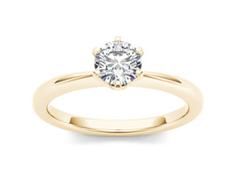 IGI Certified 14k Yellow Gold 0.75Ct Diamond Six Prong Solitaire Engagem... - $1,232.49