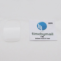 For FRANCK MULLER Watch 34.5mm X 22.3mm X 0.9mm Glass Crystal Spare Part C87K - $37.30