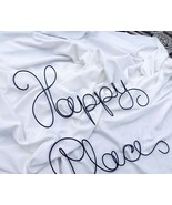 Happy Place Large Wire Wall Sign Master Bedroom Decor, Kitchen Decor, Bath - £53.24 GBP