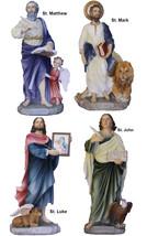 Gospel Saints Sts. Matthew, Mark, Luke and John  Statues, Hand Painted C... - $441.75