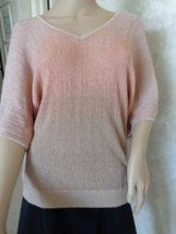 I-N-C International Concept Two-Toned Metallic Top ¾ Sleeve Size M (#29... - $20.99