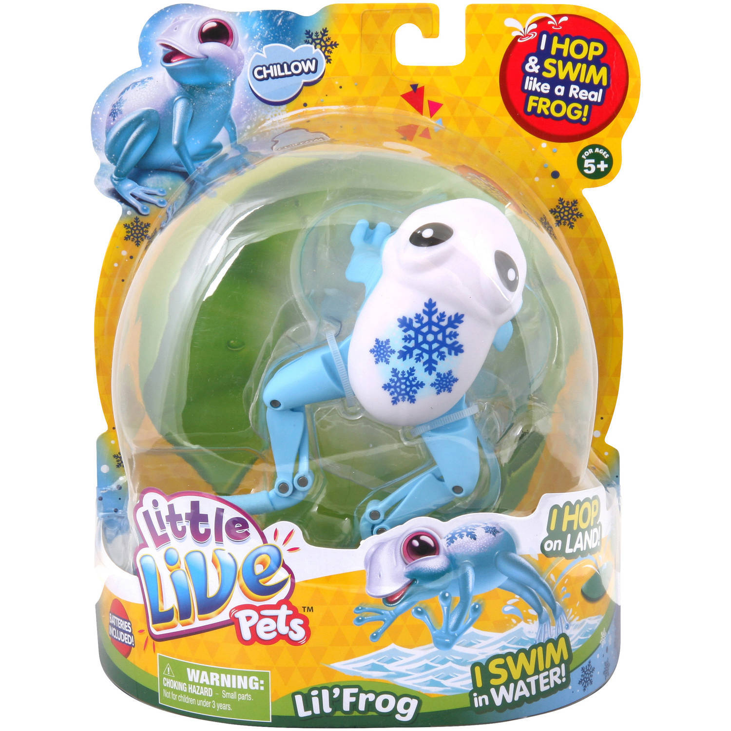 Primary image for Chillow Little Live Pets Lil Frog Swims Hops Like a Real Frog NEW