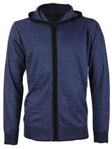 E-38 Italy Men's Slim Fit Luxury Wool Zip Up Pullover Hoodie Cardigan Sweater image 15
