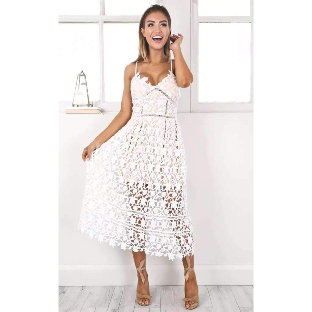 dress for less summer dress lace overlay spaghetti strap women summer party dress 1401630130207