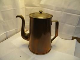 VTG Copper Coffee Pot  Tea Pot COPPER Handle Country Farm Kitchen  - $39.95