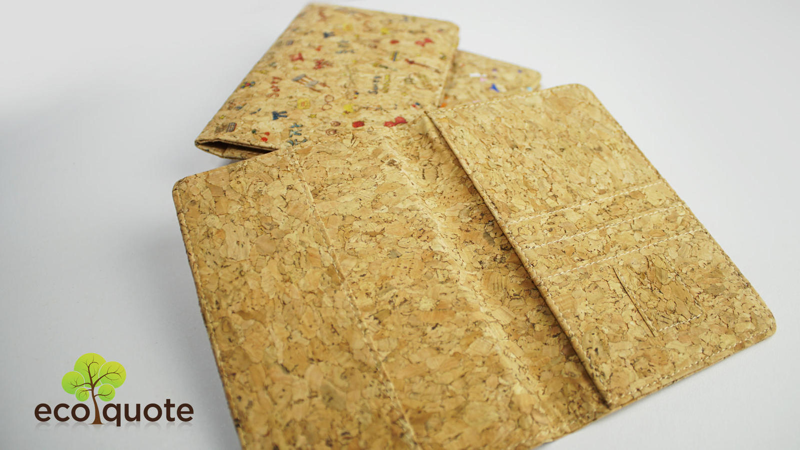 EcoQuote EcoQuote Passport Cover Simple Handmade Cork Material Great for Vegan